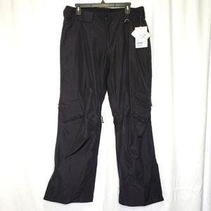 Slalom Snow Ski Cargo Pants Black Size Large